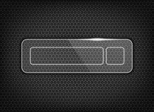 botão lustroso da transferência na textura Foto de Stock Royalty Free