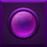 Botão lustroso roxo Foto de Stock Royalty Free