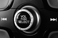 Botão preto do volume imagem de stock