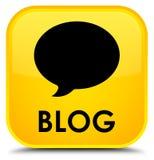 Botão quadrado amarelo especial do blogue (ícone da conversação) ilustração royalty free