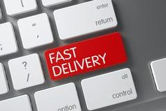 Botão rápido da entrega 3d Foto de Stock
