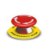 Botão realístico da emergência 3d do vetor Imagens de Stock Royalty Free