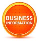 Botão redondo alaranjado natural da informação do negócio ilustração do vetor