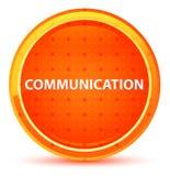 Botão redondo alaranjado natural de uma comunicação ilustração do vetor