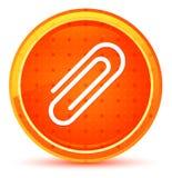 Botão redondo alaranjado natural do ícone do clipe de papel ilustração royalty free