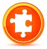 Botão redondo alaranjado natural do ícone do enigma ilustração stock