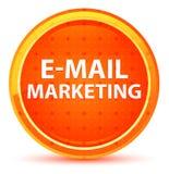 Botão redondo alaranjado natural do mercado do e-mail ilustração stock