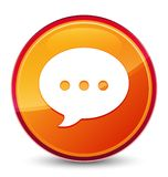 Botão redondo alaranjado vítreo especial do ícone da conversação ilustração royalty free
