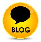 Botão redondo amarelo elegante do blogue (ícone da conversação) ilustração stock