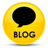 Botão redondo amarelo especial do blogue (ícone da conversação) ilustração royalty free
