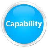 Botão redondo azul ciano superior da capacidade ilustração royalty free