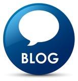 Botão redondo azul do blogue (ícone da conversação) ilustração royalty free