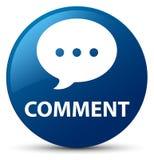 Botão redondo azul do comentário (ícone da conversação) ilustração do vetor