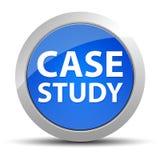 Botão redondo azul do estudo de caso ilustração stock