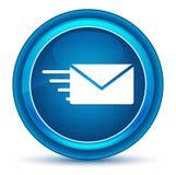 Botão redondo azul do globo ocular do ícone da opção do e-mail ilustração do vetor