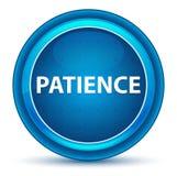 Botão redondo azul do globo ocular da paciência ilustração stock