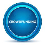 Botão redondo azul do globo ocular de Crowdfunding ilustração do vetor