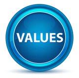 Botão redondo azul do globo ocular dos valores ilustração royalty free