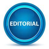 Botão redondo azul do globo ocular editorial ilustração royalty free
