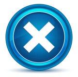 Botão redondo azul do globo ocular transversal do ícone ilustração royalty free