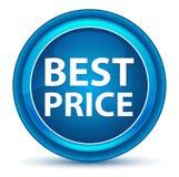 Botão redondo azul do melhor globo ocular do preço ilustração royalty free