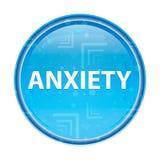 Botão redondo azul floral da ansiedade ilustração do vetor