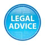Botão redondo azul floral do parecer jurídico ilustração do vetor