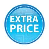 Botão redondo azul floral do preço extra ilustração royalty free