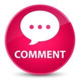 Botão redondo cor-de-rosa elegante do comentário (ícone da conversação) ilustração royalty free