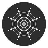 Botão redondo do vetor da Web de aranha Foto de Stock