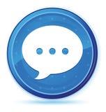 Botão redondo principal azul da meia-noite do ícone da conversação ilustração royalty free