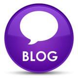 Botão redondo roxo especial do blogue (ícone da conversação) ilustração stock