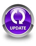Botão redondo roxo lustroso da atualização Imagens de Stock Royalty Free