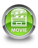 Botão redondo verde lustroso do filme (ícone do grampo do cinema) Foto de Stock Royalty Free
