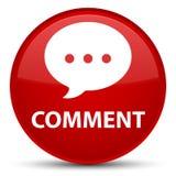 Botão redondo vermelho especial do comentário (ícone da conversação) ilustração stock