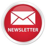 Botão redondo vermelho superior do boletim de notícias Imagem de Stock Royalty Free