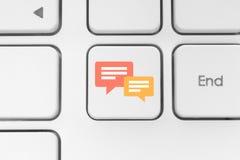 Botão social do teclado dos meios Imagem de Stock Royalty Free