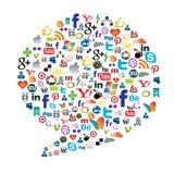 Botão social dos meios Foto de Stock Royalty Free