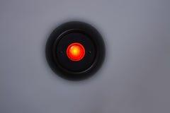 Botão vermelho da lâmpada fotos de stock