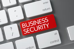 Botão vermelho da segurança do negócio no teclado 3d Foto de Stock Royalty Free