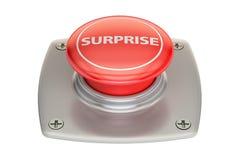 Botão vermelho da surpresa, rendição 3D Fotografia de Stock Royalty Free