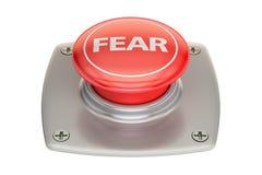 Botão vermelho do medo, rendição 3D ilustração stock
