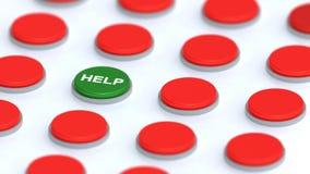 Botón único de la ayuda Fotografía de archivo libre de regalías