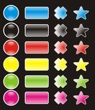 Botón Imagen de archivo libre de regalías
