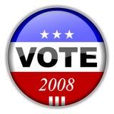 Botón 2008 del voto ilustración del vector