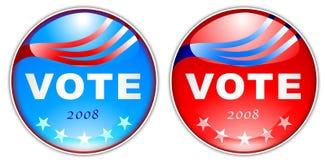 botón 2008 del voto Fotografía de archivo