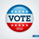 Botón 2012 de la campaña electoral de  Fotos de archivo libres de regalías