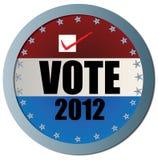 Botón 2012 del Web del voto Imagen de archivo