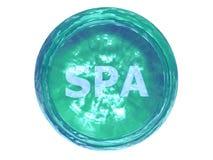botón 3D-SPA Imagen de archivo