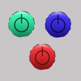Botón Fotografía de archivo libre de regalías